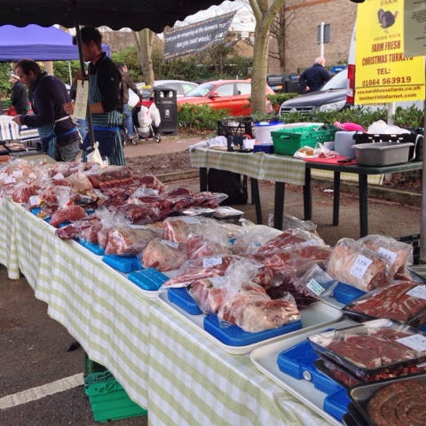 Twickenham Farmers' Market - meat from March House Farm…beef, lamb, sausages, pork and mutton, veal and turkeys (seasonally).