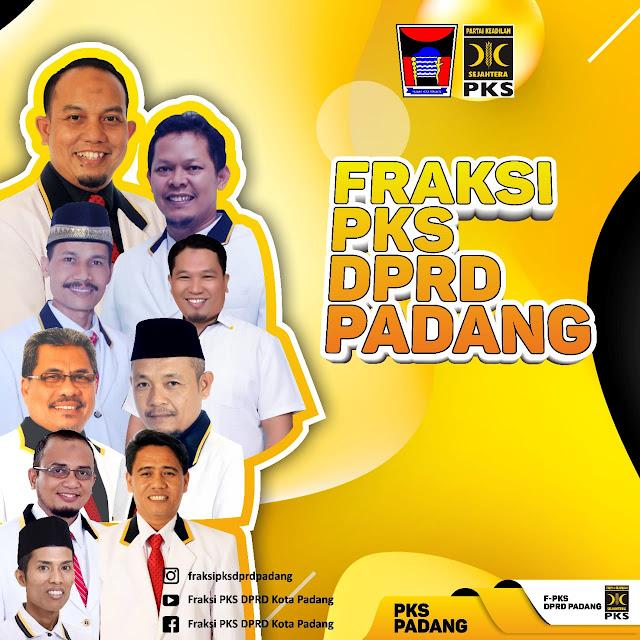 Fraksi PKS DPRD Padang Sumbangkan Gaji untuk Bantu Pemko Perangi Virus Corona.
