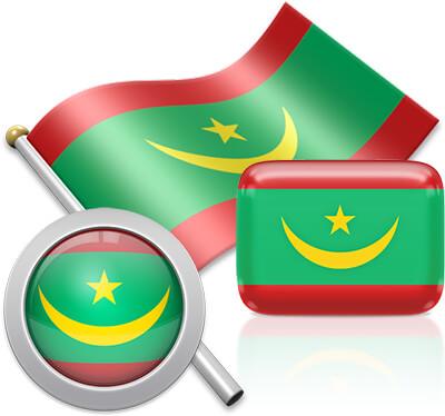 Mauritanian flag icons pictures collection