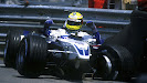 Ralf Schumacher crashed his Williams FW23 BMW