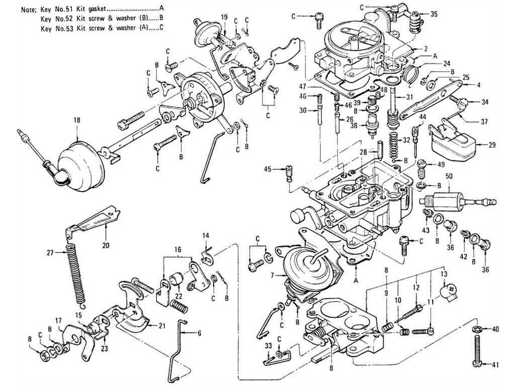 Datsun 1200 Carburetor (No Emission Control)