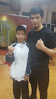 Sifu Dawud Tsan with one of Sifu Yip Jyu Jeh's students.