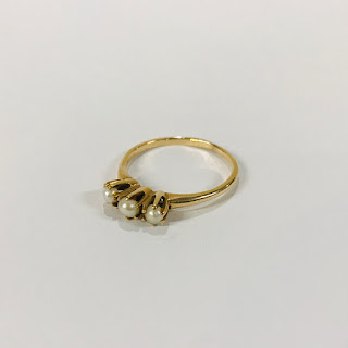 14K Gold and Pearl Ring