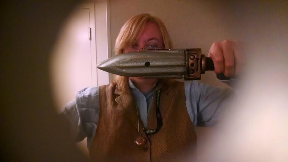 Selfie using the dagger.