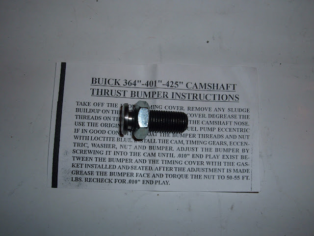 Cam bumper, must have when using a roller cam on 1957-1966 364-401-425. 264-322 already have a retainer plate. 29.00
