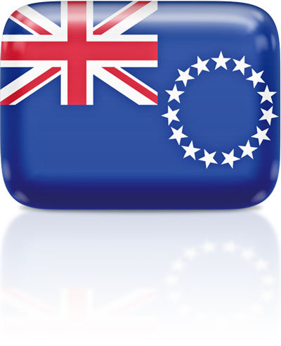 Cook-Island flag clipart rectangular