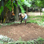 Part of the permaculture system, this is part 1 of the making of a circular kitchen garden system. Carried out on 23rd September 2010 at Kalanjiyam Centre, Bahoor, Puducherry. People seen: Mr.Muniyan, Ms.Souzaane, Ms.Vaani.