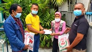 Ketua Pewarta Berikan Santunan dan Sembako kepada Wartawati Sakit