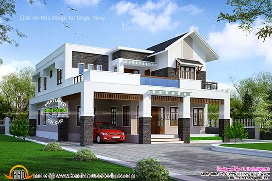 Indian modern house designs double floor home design and Indian modern house