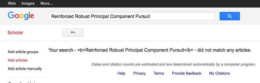 Google Scholar Citation Add Article Bug Cправка