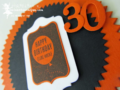 stampin up, 30 geburtstag mann, male birthday card, day of celebration, heute ist dein tag, starburst, chalk talk