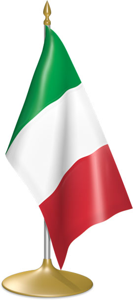 Italian table flags - desk flags