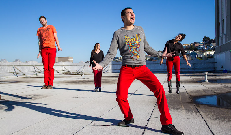#RedPantsFriday Roof Party Jump