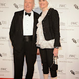WWW.ENTSIMAGES.COM -  Julian Fellows and Emma Fellows  arriving at       IWC Schaffhausen and BFI London Film Festival - private dinner at Battersea Evolution, London October 7th 2014Swiss watch brand and British Film Institute host party to celebrate their three year partnership.                                                Photo Mobis Photos/OIC 0203 174 1069