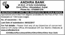 Andhra Bank Ahmedabad Jobs 2017 www.indgovtjobs.in