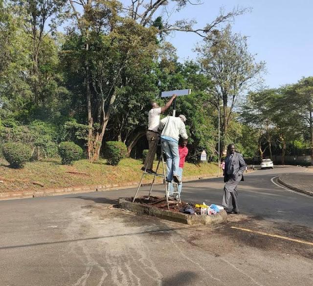 COTU Secretary General Francis Atwoli signpost photo