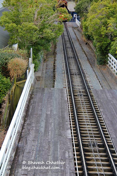 Track of Wellington Cable Car
