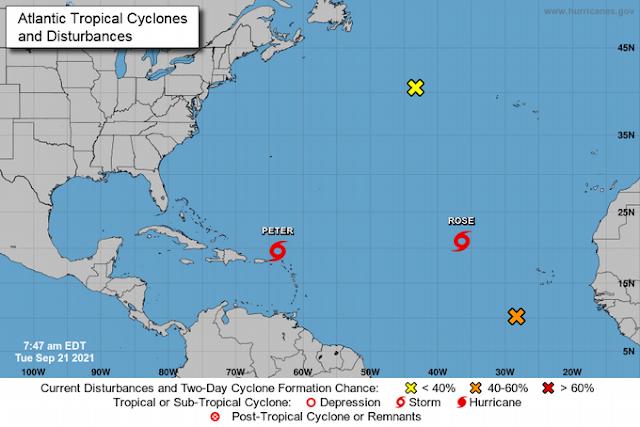 Cinco provincias en alerta ante efectos indirectos de la tormenta Peter