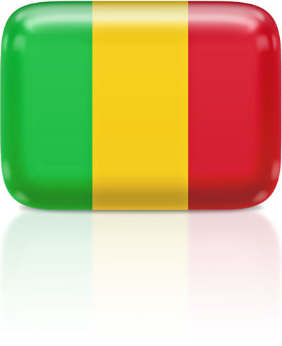 Malian flag clipart rectangular