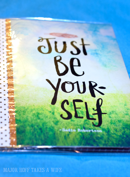 Just Be Yourself Sticky Note Portfolio