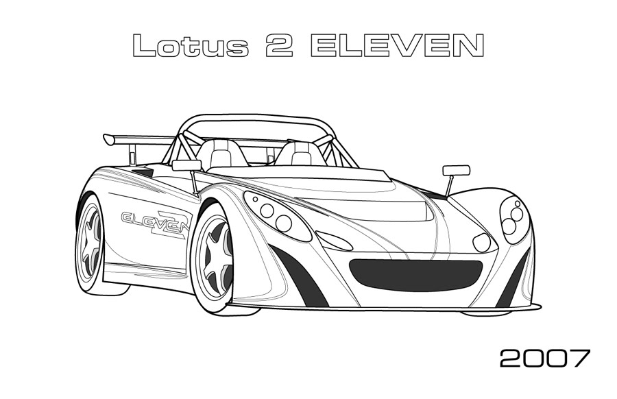 Lotus 2-eleven Coloring Page - Car Coloring Pages