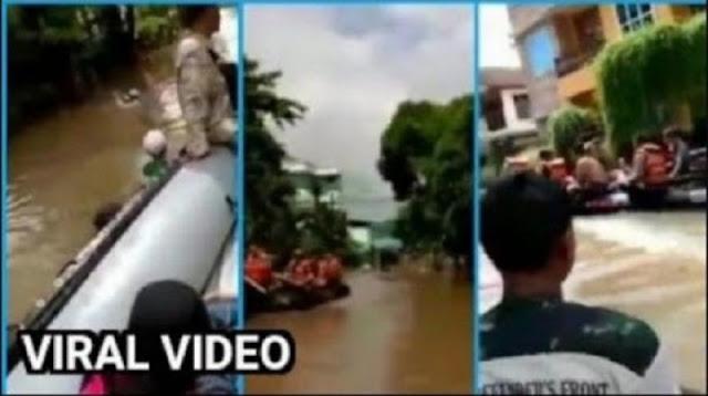 Viral, Polisi Cuekin Relawan FPI yang Pinjam Dayung Saat Evakuasi