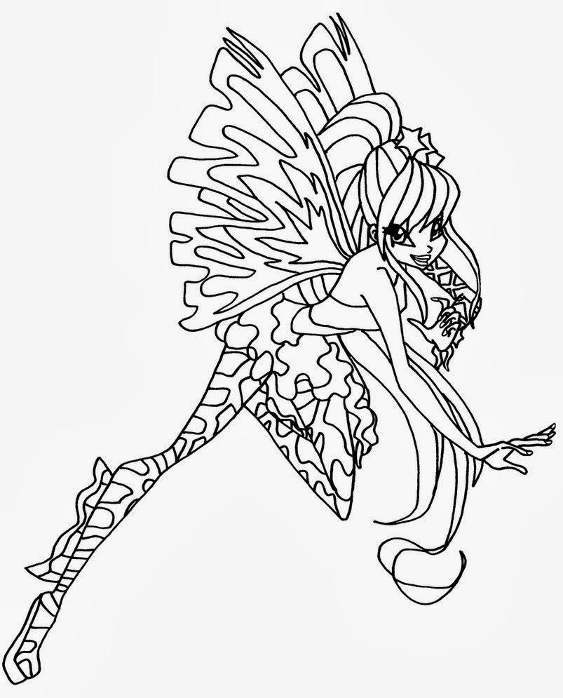 Disegni Da Colorare E Stampare Delle Winx Sirenix