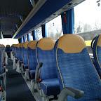Het interieur van de M.A.N van Drenthe Tours bus 84