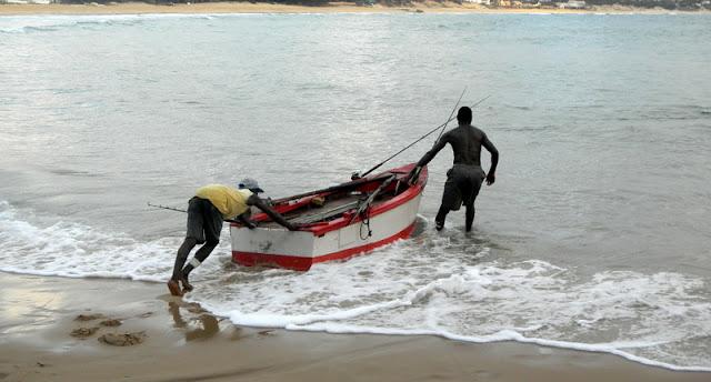 Fishermen beginning their day