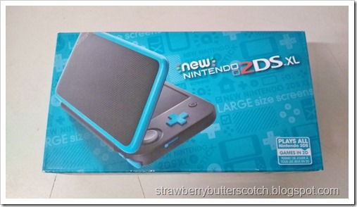 The New Nintento 2DS XL still in the box.