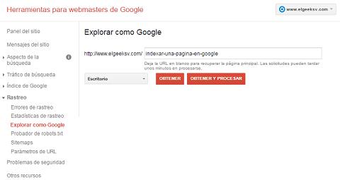 Cómo indexar en segundos una página en Google