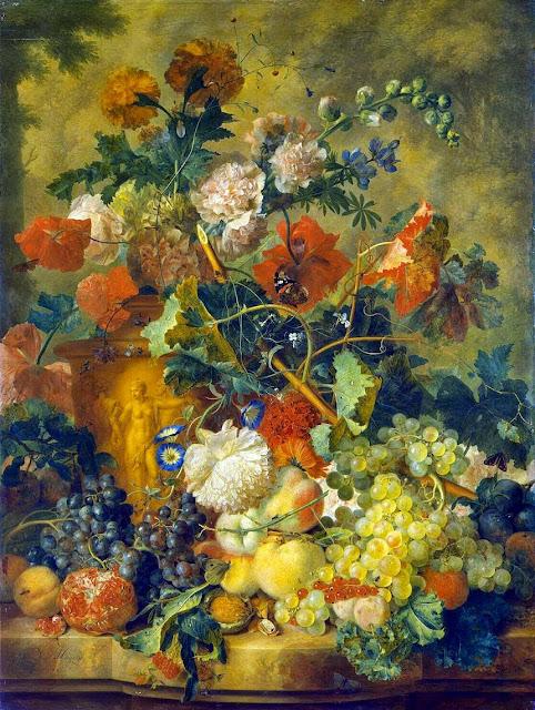 Jan van Huysum - Flowers and Fruit