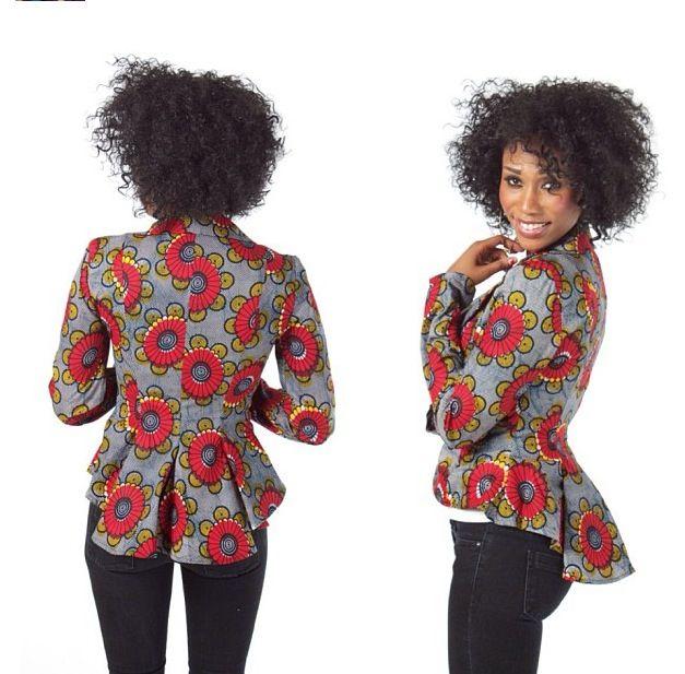 LATEST AFRICAN PRINT BLAZER DESIGNS FOR PRETTY WOMEN 1