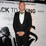 WWW.ENTSIMAGES.COM -    Lee Trundle    arriving    at      THE UK PREMIERE OF (JACK TO A KING) THE SWANSEA STORY at EMPIRE, LEICESTER SQUARE London September 12th 2014.The movie of Swansea City's rise from near extinction to the top of the Premier League                                                 Photo Mobis Photos/OIC 0203 174 1069