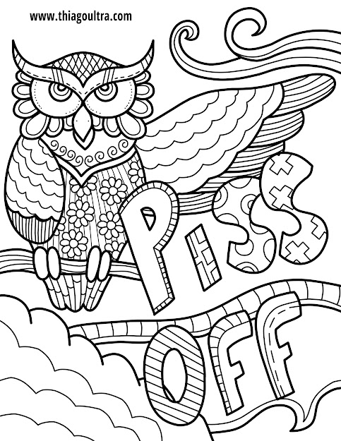 Lofty Idea Swear Word Coloring Pages  Creative Design Free Printable  Page Archives