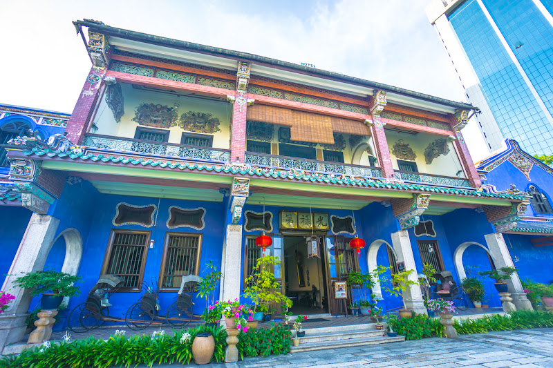 Penang Cheong Fatt Tze Mansion (Blue Mansion) front of the building