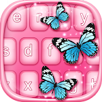 Pink Blue Butterfly Keyboard Icon