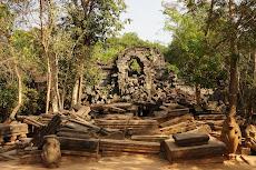 Entering Beng Mealea Temple