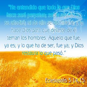 Eclesiastés 3.14,15