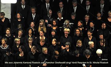Photo: Mix aus Johannis Kantorei Rostock und Domchor Greifswald singt Verdi Requiem in St. Nikolai Rostock