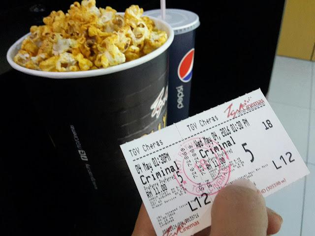 Pertama Kali Tengok Wayang Pada Tahun 2016 | Filem Criminal, TGV Cheras Selatan