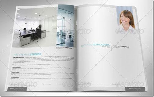 Plantilla para catálogo corporativo, 16 páginas, diseño muy limpio y cuidado, formato InDesign