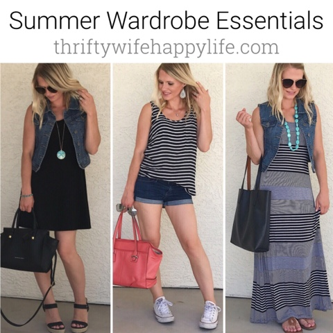 Thrifty Wife, Happy Life || Summer Wardrobe Favorites- 5 summer clothing essentials