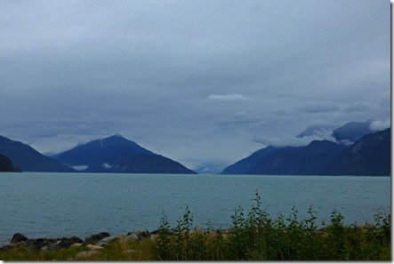 View of the Taiya Inlet to the north towards Skagway