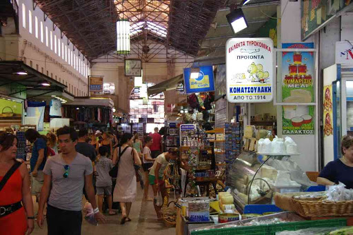 La Canée (Χανιά), le marché couvert.