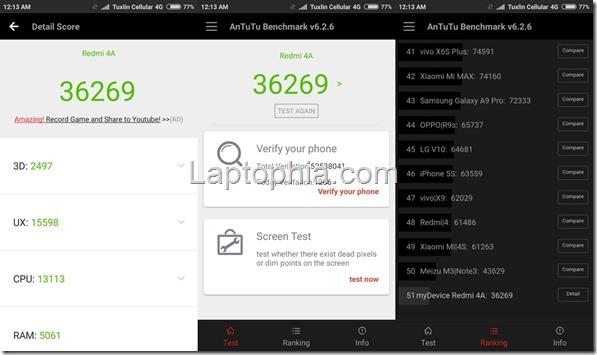 Benchmark AnTuTu v6 Xiaomi Redmi 4A