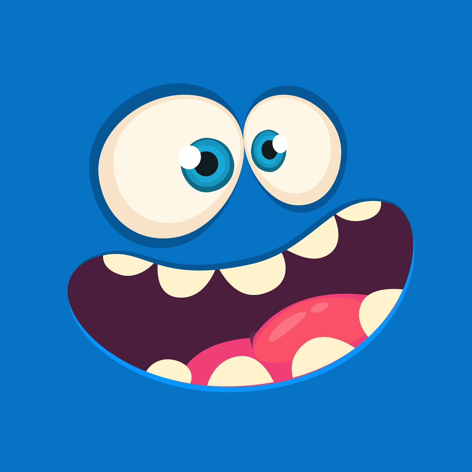 Cartoon Monster Face Avatar Halloween Free Download Vector CDR, AI, EPS and PNG Formats