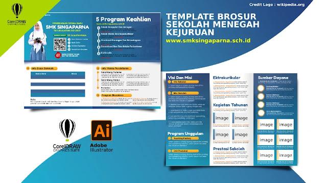 Download Contoh Desain Brosur Penerimaan Siswa baru SMK Gratis