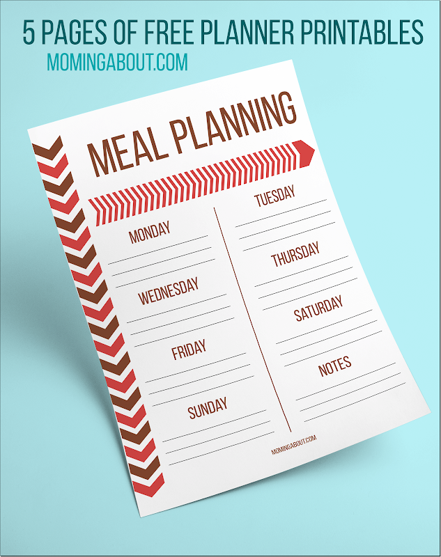Meal Planning Planner Printable