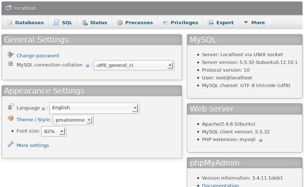 phpMyAdmin 3.4.11
